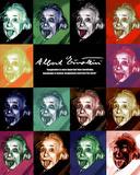Albert Einstein Tongue Pop Art Poster Print Posters