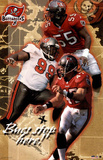 Tampa Bay Buccaneers Derrick Brooks Warren Sapp John Lynch Sports Poster Print Prints