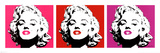 Marilyn Monroe Pop ArtTriptych, Red Movie Poster Print Poster