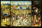 Hieronymus Bosch Garden of Earthly Delights Art Print Poster Posters