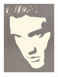 Elvis Presley Photo Negative Effect Poster