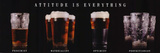 Attitude is Everything (Beer Glasses) Art Poster Print Prints