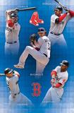 Boston Red Sox 2011 Youkilis Gonzalez Buchholz Crawford Pedroia Sports Poster Print Plakater