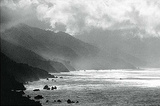 Big Sur, California (Coast, B&W) Art Poster Print Print