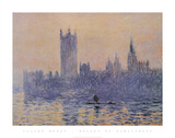 Houses of Parliament, Sunset Poster von Claude Monet