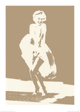 Marilyn Monroe Photo Negative Effect Posters