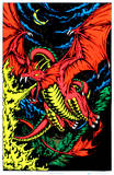 Fire Dragon Blacklight Poster Print Posters