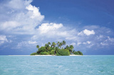 Treasure Island (Tropical Paradise, Clouds) Art Poster Print Poster