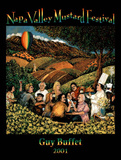 Guy Buffet Original 2001 Napa Valley Mustard Festival Art Print Poster Posters