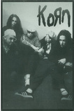 Korn Group B&amp;W Music Postcard Print Poster