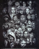 Rap Gods POSTER hip-hop Eminem Biggie Nelly Jay-z 2pac Plakater