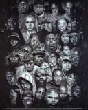 Rap Gods POSTER hip-hop Eminem Biggie Nelly Jay-z 2pac Plakát