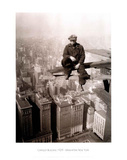 New York City Man on Girder Chrysler Building Art Print Poster Poster