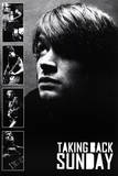 Taking Back Sunday Black and White Music Poster Print Prints