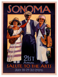 2006 Sonoma Salute to the Arts Art Print Poster Print
