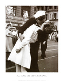 Kissing the War Goodbye (Times Square, New York City,, c.1945) Poster by Victor Jorgensen