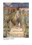 The Artists Garden Prints by Claude Monet