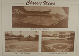 Classic Views Ebbets Field Polo Grounds Yankee Stadium Sports Poster Print Posters