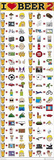 I Heart Beer 2 (Funny List, Door) Art Poster Print Poster