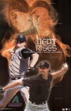 Arizona Diamondbacks Curt Schilling Randy Johnson Heat Rises Sports Poster Print Posters