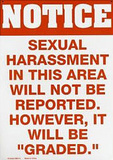 Sexual Harassment Tin Sign