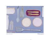 Blue Kitchen Prints by Tiffany Lynch