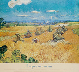 Vincent Van Gogh (Wheat Fields With Reaper) Art Poster Print Prints