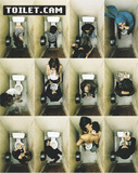 Toilet Cam (Bathroom Scenes) Art Poster Print Posters