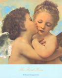 The First Kiss, c.1873 (detail) Poster by William Adolphe Bouguereau