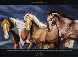 No More Night Mares (3 Horses) Art Poster Print Poster
