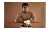 Muhammed Ali (Resting on Ropes) Sports Poster Print Prints