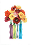 Colorful Flowers (In Vases) Art Poster print Prints