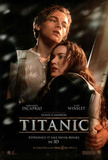 Titanic in 3-D Movie One Sheet Leonardo DiCaprio Kate Winslet Double-Sided Poster Print Poster