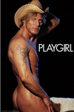 Playgirl Magazine, Nude Cowboy, Male Model, Photo Print Poster Prints
