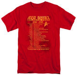 Red shirt tour tee, star trek red shirt apparel