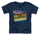 Toddler: Charlie and the Chocolate Factory - Golden Ticket T-shirts
