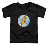 Toddler: The Flash - Flash Neon Distress Logo Camisetas