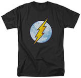 The Flash - Flash Neon Distress Logo Camisetas