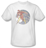 The Flash - Retro Flash Iron On T-shirts
