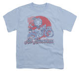 Youth: Betty Boop - All American Biker Shirt