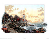 Sunset Cove Lighthouse Art Print POSTER Motivational Posters