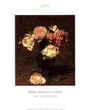 Henri Fantin-Latour (Pink and White Roses) Art Poster Print Pôsteres