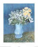 Vincent Van Gogh Lilas Et Marguerites Art Print POSTER Posters