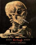 Vincent Van Gogh (Even Van Gogh Knew Don't Smoke) Art Print Poster Poster
