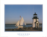 Motivational Boat Success By Taking Chances Art Print Poster Poster
