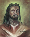 Rasta Jesus Christ Rastafarian Art Print POSTER high Prints