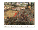 Vincent Van Gogh (Field With Poppies) Art Print POSTER Posters