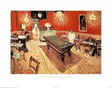 Vincent Van Gogh Cafe de Nuit Art Print Poster Pósters
