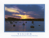 Motivational Vision The Future Belongs Art Print Poster Obrazy
