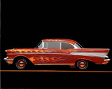Ron Kimball 1957 Chevrolet Bel Air with Flames POSTER Prints